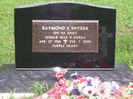 SNYDER (BACK OF STONE), RAYMOND E. - Gallia County, Ohio | RAYMOND E. SNYDER (BACK OF STONE) - Ohio Gravestone Photos