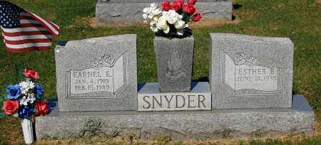 SNYDER, EARNEL E - Gallia County, Ohio | EARNEL E SNYDER - Ohio Gravestone Photos