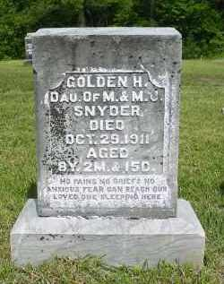 SNYDER, GOLDEN H. - Gallia County, Ohio | GOLDEN H. SNYDER - Ohio Gravestone Photos