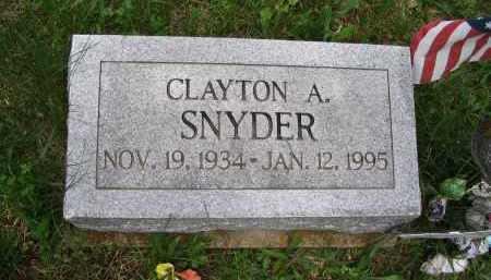 SNYDER (HEADSTONE), CLAYTON A. - Gallia County, Ohio | CLAYTON A. SNYDER (HEADSTONE) - Ohio Gravestone Photos