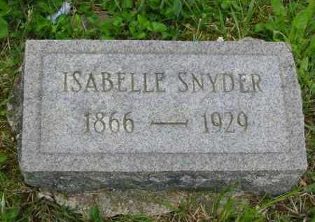 SNYDER, ISABELLE - Gallia County, Ohio | ISABELLE SNYDER - Ohio Gravestone Photos