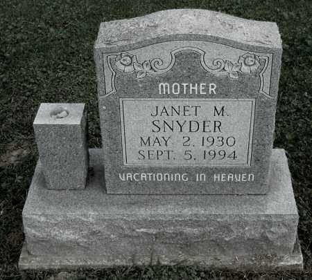 SNYDER, JANET M - Gallia County, Ohio | JANET M SNYDER - Ohio Gravestone Photos