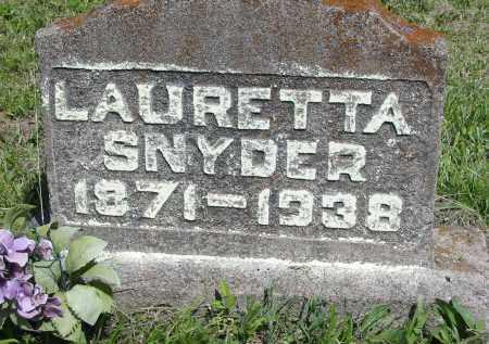 SNYDER, LAURETTA - Gallia County, Ohio | LAURETTA SNYDER - Ohio Gravestone Photos