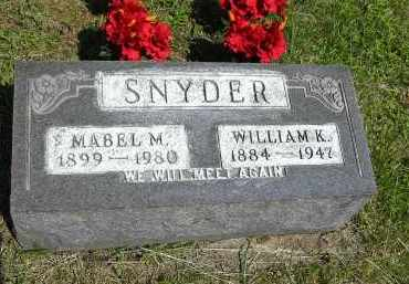 SNYDER, WILLIAM K. - Gallia County, Ohio | WILLIAM K. SNYDER - Ohio Gravestone Photos
