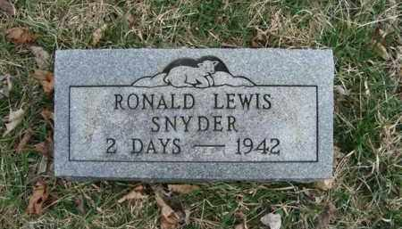SNYDER, RONALD LEWIS - Gallia County, Ohio | RONALD LEWIS SNYDER - Ohio Gravestone Photos