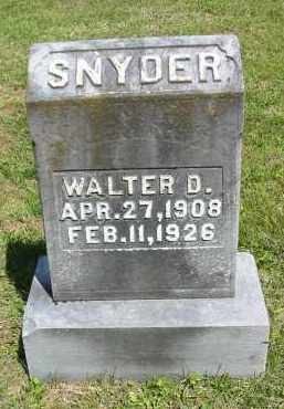 SNYDER, WALTER D. - Gallia County, Ohio | WALTER D. SNYDER - Ohio Gravestone Photos