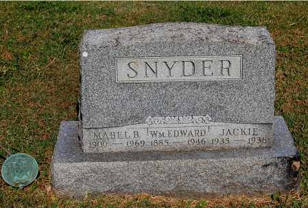 SNYDER, WILLIAM EDWARD - Gallia County, Ohio | WILLIAM EDWARD SNYDER - Ohio Gravestone Photos