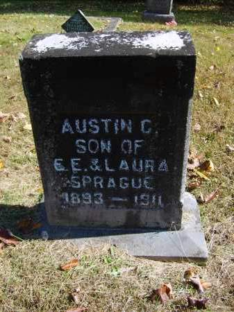 SPRAGUE, AUSTIN - Gallia County, Ohio | AUSTIN SPRAGUE - Ohio Gravestone Photos