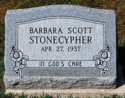 STONECYPHER, BARBARA - Gallia County, Ohio | BARBARA STONECYPHER - Ohio Gravestone Photos