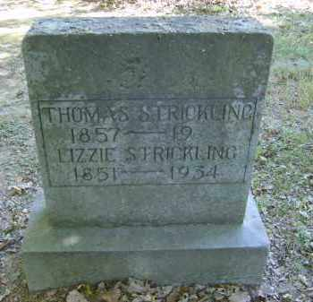 STRICKLING, LILZZIE - Gallia County, Ohio | LILZZIE STRICKLING - Ohio Gravestone Photos
