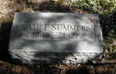 SUMMERS, KATE - Gallia County, Ohio | KATE SUMMERS - Ohio Gravestone Photos