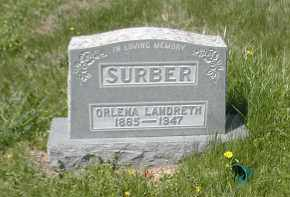 LANDRETH SURBER, ORLENA - Gallia County, Ohio | ORLENA LANDRETH SURBER - Ohio Gravestone Photos