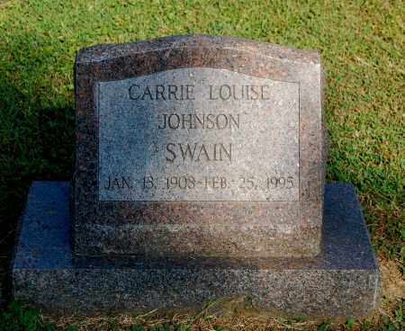 JOHNSON SWAIN, CARRIE LOUISE - Gallia County, Ohio | CARRIE LOUISE JOHNSON SWAIN - Ohio Gravestone Photos