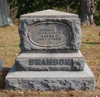SWANSON, SARAH E - Gallia County, Ohio | SARAH E SWANSON - Ohio Gravestone Photos