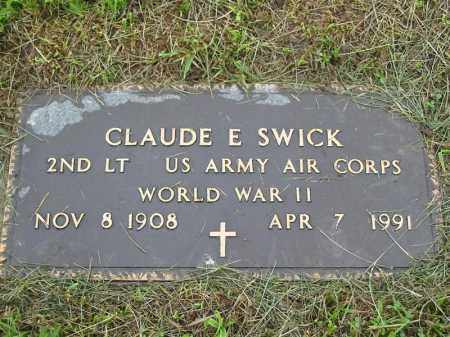 SWICK, CLAUDE E. - Gallia County, Ohio | CLAUDE E. SWICK - Ohio Gravestone Photos