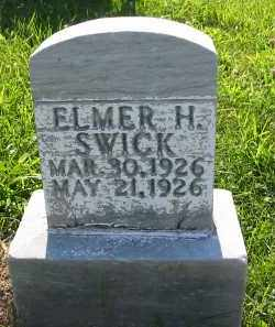 SWICK, ELMER H. - Gallia County, Ohio | ELMER H. SWICK - Ohio Gravestone Photos
