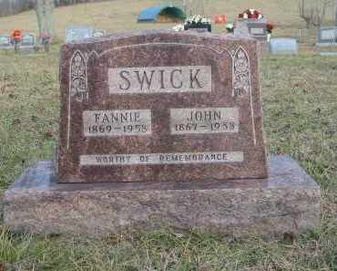 SWICK, JOHN - Gallia County, Ohio | JOHN SWICK - Ohio Gravestone Photos