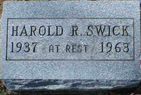 SWICK, HAROLD - Gallia County, Ohio | HAROLD SWICK - Ohio Gravestone Photos