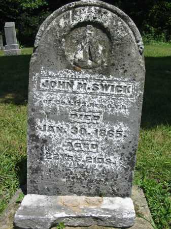 SWICK, JOHN M. - Gallia County, Ohio | JOHN M. SWICK - Ohio Gravestone Photos
