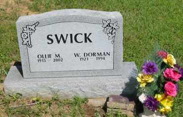 SWICK, OLLIE M. - Gallia County, Ohio | OLLIE M. SWICK - Ohio Gravestone Photos