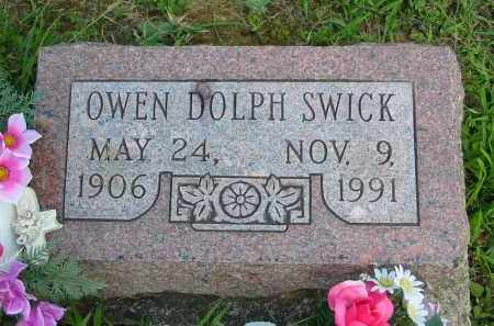SWICK, OWEN DOLPH - Gallia County, Ohio | OWEN DOLPH SWICK - Ohio Gravestone Photos