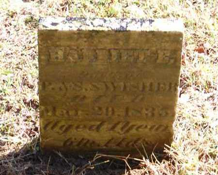 SWISHER, HARRIET E - Gallia County, Ohio | HARRIET E SWISHER - Ohio Gravestone Photos