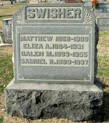 SWISHER, ELIZA A - Gallia County, Ohio | ELIZA A SWISHER - Ohio Gravestone Photos