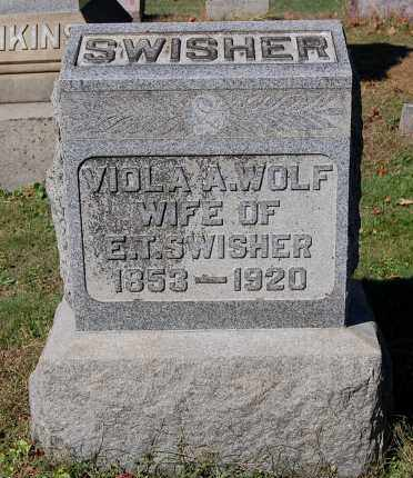 WOLF SWISHER, VIOLA A - Gallia County, Ohio | VIOLA A WOLF SWISHER - Ohio Gravestone Photos