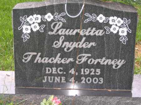 SNYDER THACKER FORTNEY, LAURETTA - Gallia County, Ohio | LAURETTA SNYDER THACKER FORTNEY - Ohio Gravestone Photos