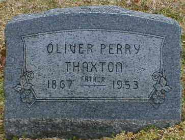 THAXTON, OLIVER - Gallia County, Ohio | OLIVER THAXTON - Ohio Gravestone Photos