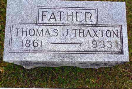 THAXTON, THOMAS J. - Gallia County, Ohio | THOMAS J. THAXTON - Ohio Gravestone Photos