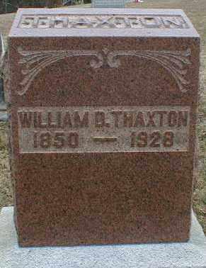 THAXTON, WILLIAM - Gallia County, Ohio | WILLIAM THAXTON - Ohio Gravestone Photos