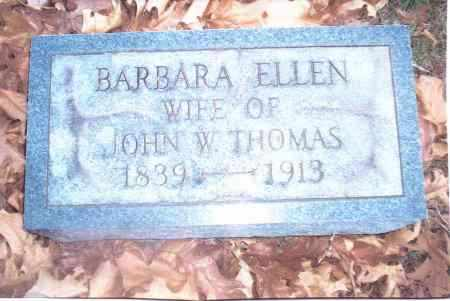 THOMAS, BARBARA ELLEN - Gallia County, Ohio | BARBARA ELLEN THOMAS - Ohio Gravestone Photos