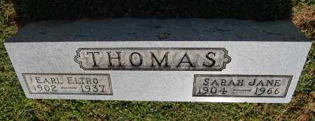THOMAS, SARAH JANE - Gallia County, Ohio | SARAH JANE THOMAS - Ohio Gravestone Photos