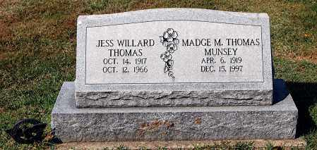 THOMAS, JESS WILLARD - Gallia County, Ohio | JESS WILLARD THOMAS - Ohio Gravestone Photos