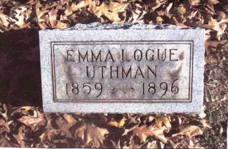 LOGUE UTHMAN, EMMA - Gallia County, Ohio | EMMA LOGUE UTHMAN - Ohio Gravestone Photos