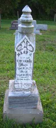 VANCE, MARY A. - Gallia County, Ohio | MARY A. VANCE - Ohio Gravestone Photos