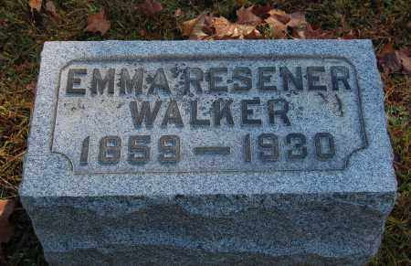 RESENER WALKER, EMMA - Gallia County, Ohio | EMMA RESENER WALKER - Ohio Gravestone Photos
