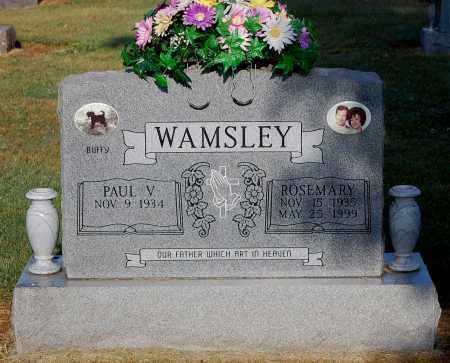 WAMSLEY, PAUL V - Gallia County, Ohio | PAUL V WAMSLEY - Ohio Gravestone Photos