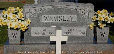 WAMSLEY, WILMA V - Gallia County, Ohio | WILMA V WAMSLEY - Ohio Gravestone Photos