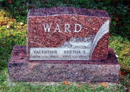 WARD, VALENTINE - Gallia County, Ohio | VALENTINE WARD - Ohio Gravestone Photos
