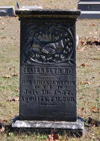 WATSON, ELIZABETH R - Gallia County, Ohio | ELIZABETH R WATSON - Ohio Gravestone Photos
