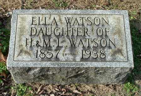 WATSON, ELLA - Gallia County, Ohio | ELLA WATSON - Ohio Gravestone Photos