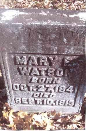 WATSON, MARY E. - Gallia County, Ohio | MARY E. WATSON - Ohio Gravestone Photos