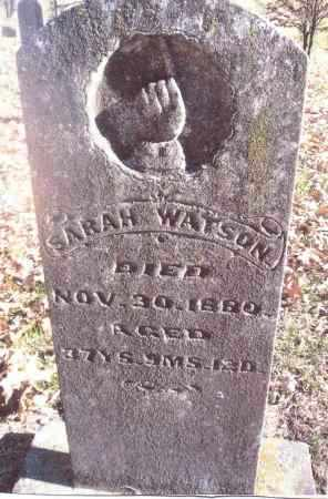 WATSON, SARAH - Gallia County, Ohio | SARAH WATSON - Ohio Gravestone Photos