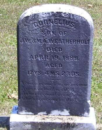 WEATHERHOLT, CORNELIUS - Gallia County, Ohio | CORNELIUS WEATHERHOLT - Ohio Gravestone Photos