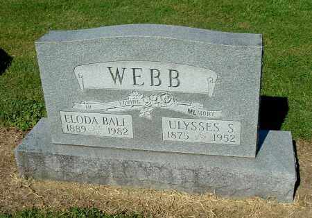 WEBB, ELODA - Gallia County, Ohio | ELODA WEBB - Ohio Gravestone Photos