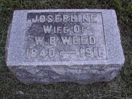WEED, JOSEPHINE - Gallia County, Ohio | JOSEPHINE WEED - Ohio Gravestone Photos
