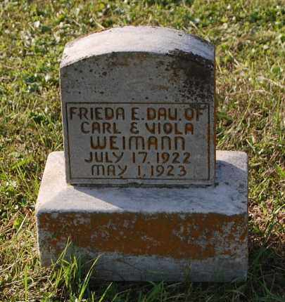 WEIMANN, FRIEDA E - Gallia County, Ohio | FRIEDA E WEIMANN - Ohio Gravestone Photos