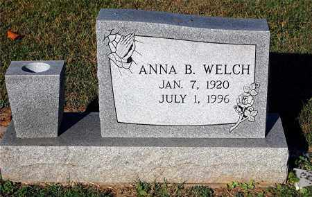 WELCH, ANNA B - Gallia County, Ohio | ANNA B WELCH - Ohio Gravestone Photos